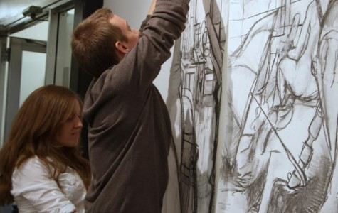Alum earns art scholarship, hosts exhibition at Comisky