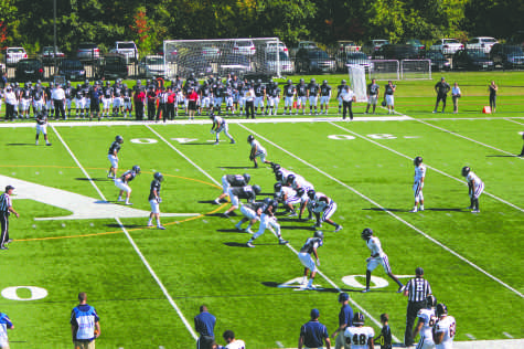 Hawk football bounces back; squad to play for NE-10 title this weekend