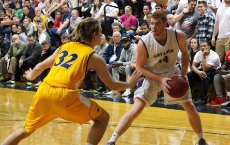 Men's basketball defeats Bentley on Senior Day; St. A's now first in Northeast