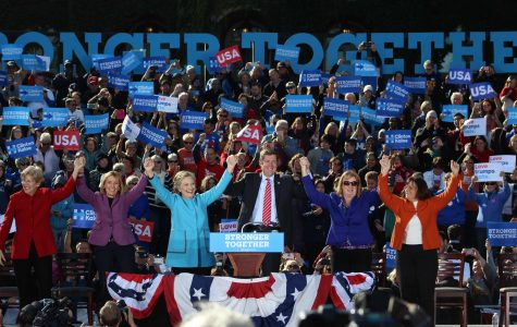 Saint Anselm hosts NH Democratic Rally with Hillary Clinton and Elizabeth Warren