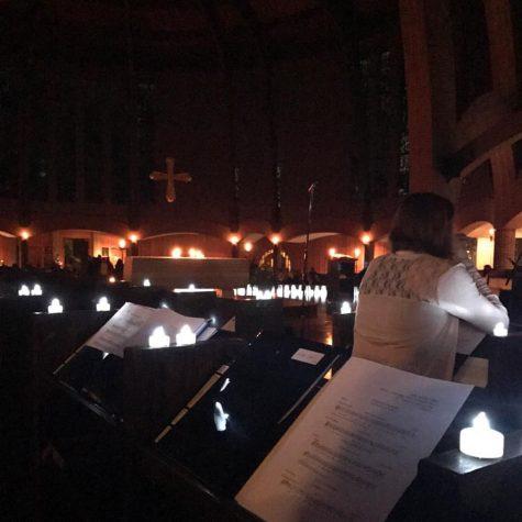 Luminarias light up abbey