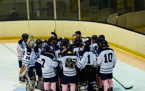Men's hockey earns share of NE10 regular season title, Coach Seney wins 200th