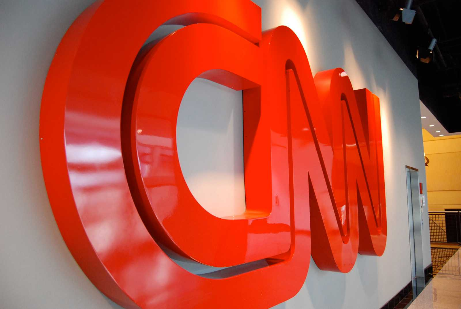 The logo of once-reputable news source CNN.