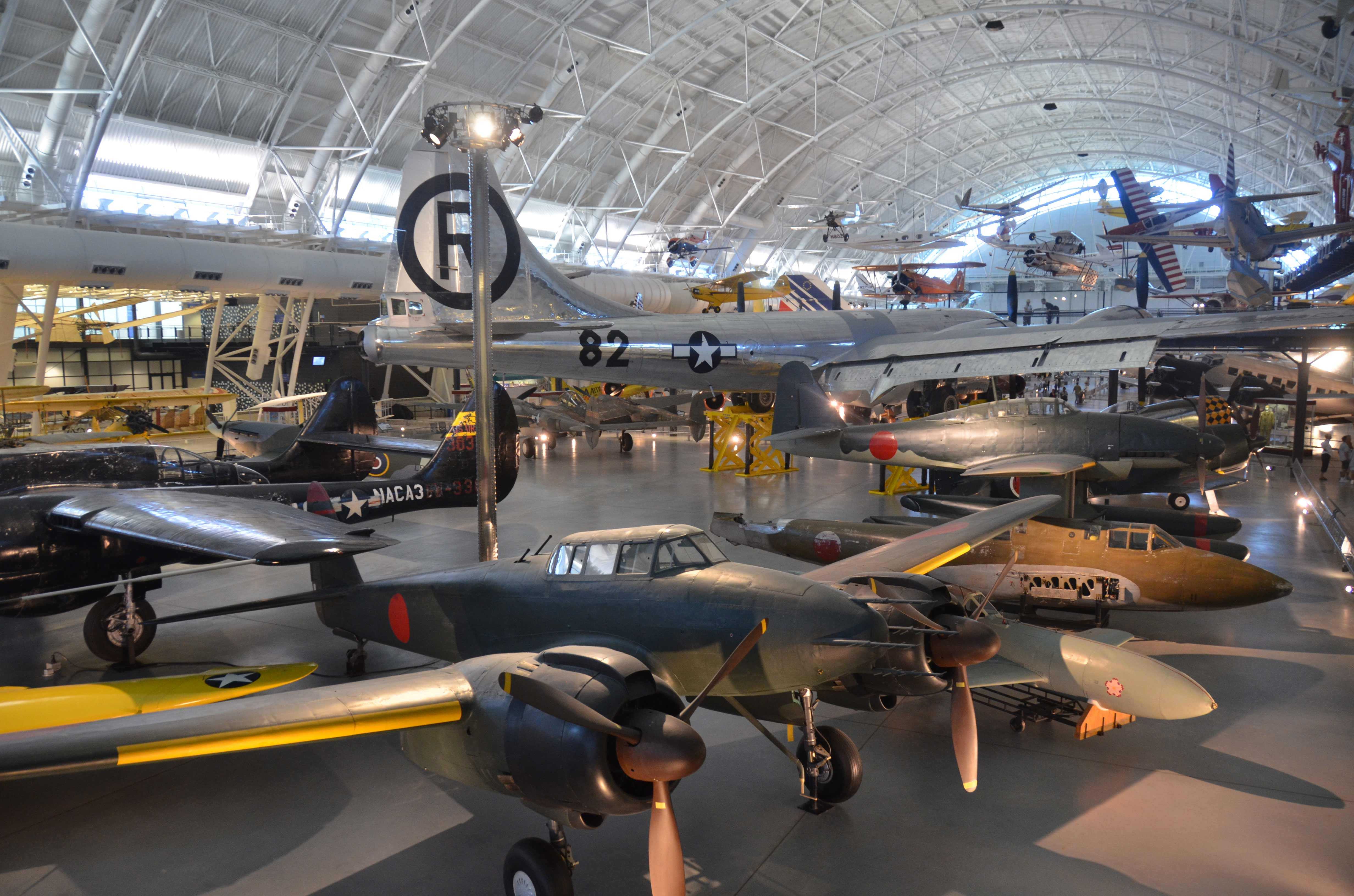 View of the Udvar-Hazy annex to the National Museum of Air and Space; a testament to humankind's aviation accomplishments.