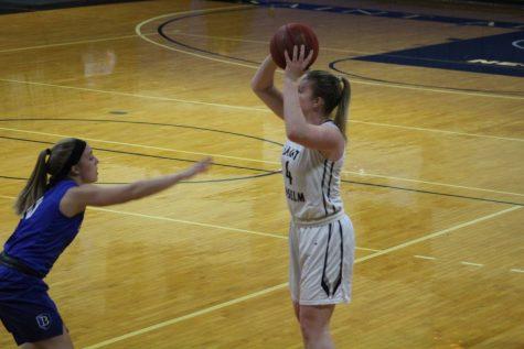 Women's basketball falls to Bentley in NE10 tournament game