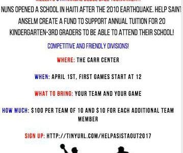 Meelia's Dodgeball Tournament to benefit scholarships in Haiti