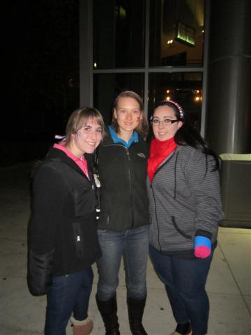 From left: Gabriella Servello, Kendra Schnip, and Tara Sennick at the Romney Rally on November 5