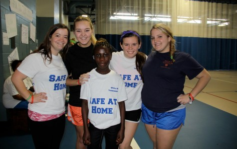 Saint Anselm volunteers showed up in great numbers to participate in the Meelia Center's