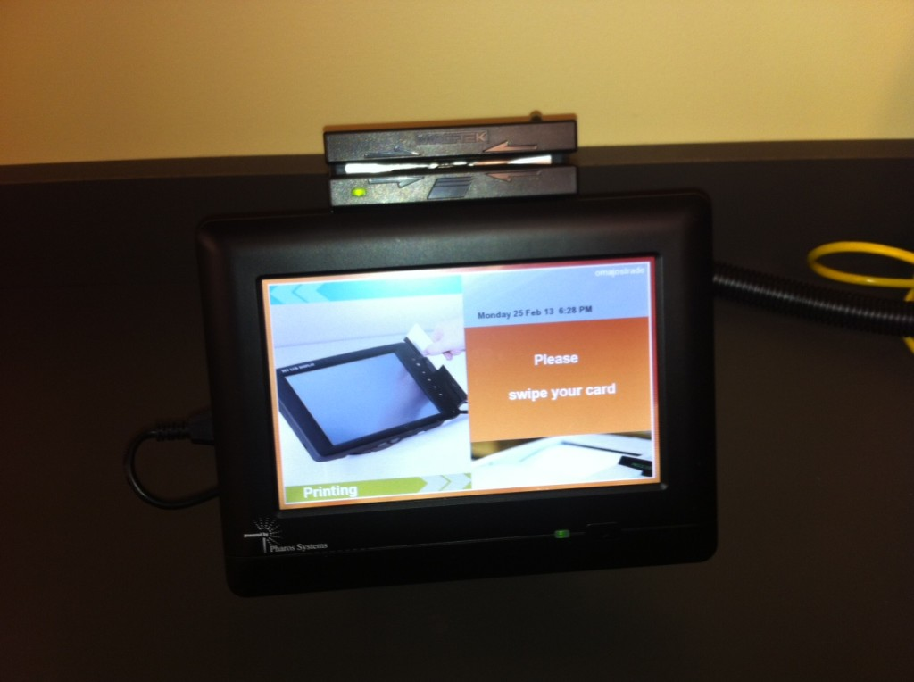 The new printing station in Joseph Hall.