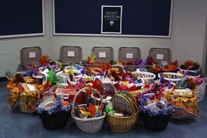 Annual Thanksgiving Baskets show Benedictine hospitality