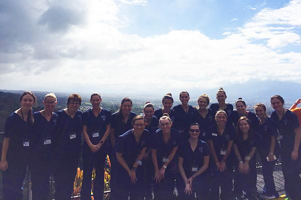 16 student nurses spent winter break in Costa Rica providing clinical care.