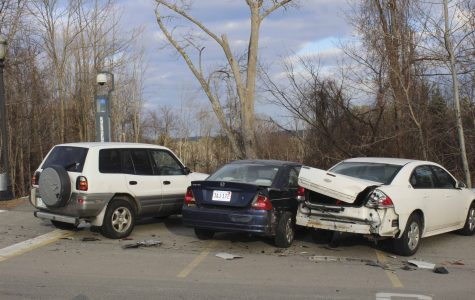 Three student cars seriously damaged in overnight crash