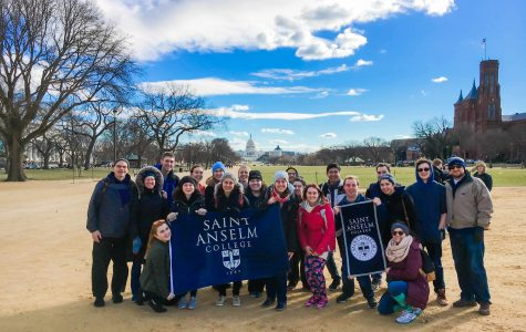 Anselmians attend the March for Life in D.C.