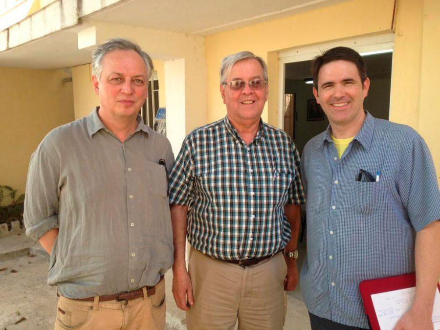 Professors+Pajakowski+and+Masur+with+former+Cuban+diplomat+Dr.+Carlos+Alzugaray.