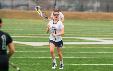 Women's lacrosse improves to 4-4 after win over Franklin Pierce, loses to Bentley in double-overtime