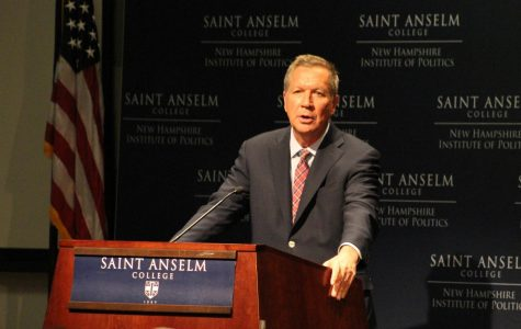 Governor John Kasich speaks at Saint A's in April of 2017.