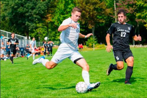 Saint Anselm men's soccer struggles mid season in loss to Adelphi
