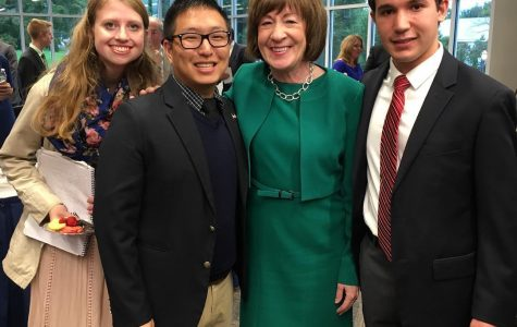 Susan Collins visits campus, discusses bipartisan issues