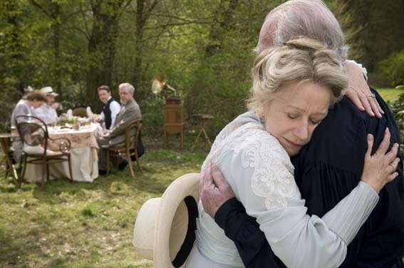 Christopher Plummer and Helen Mirren in character as Leo Tolstoy and his wife Sofya in The Last Station.