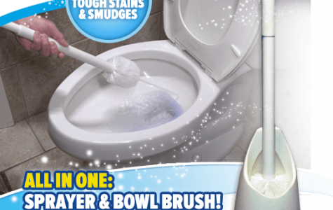 Spray Away toilet brush invented by Anthony Siragusa '07