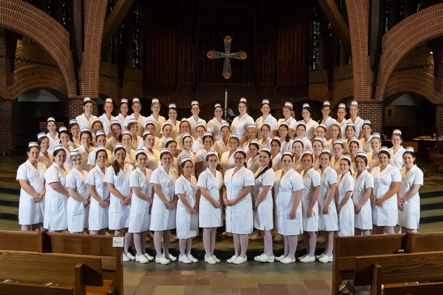 Sixty-nine senior student nurses received their pins on April 27, symbolizing their transition into professional nursing.