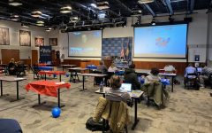 SAC students gather in NHIOP for election night watch party