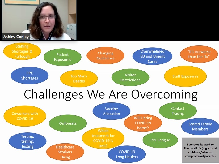 Ashley Conley 06 created a shocking visual of the challenges communities have been facing the last eight months.