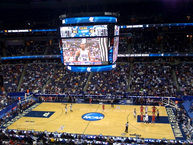 A+typical+March+Madness+tournament+would+have+fans+loaded+in+the+stands+rooting+for+their+team%2C+this+is+not+the+case+for+the+2021+tournament+though.+