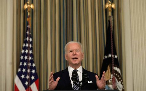 President Joe Biden speaks about the proposed, and recently approved, Covid-19 relief bill.