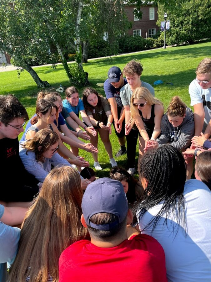 First-year+students+doing+a+meditation+on+Alumni+quad+on+July+28+during+the+annual+A360+program.%0A%0ACREDIT%3A+TOM+CANUEL%2FCRIER