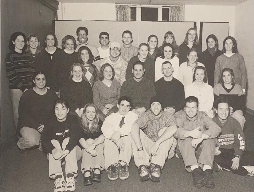 The Saint Anselm crew team poses for annual club photograph circa 2000.