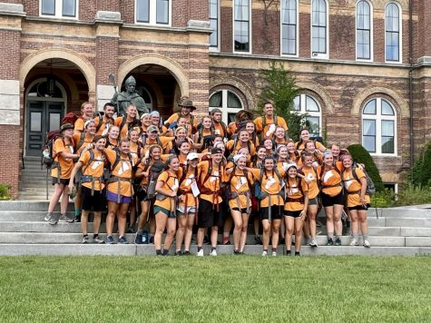 The 2021 Road for Hope walkers after arriving to campus