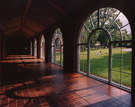The front walkway to Davison Hall.