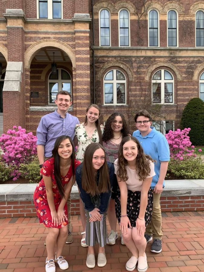 Student Government Class of 2024 Council, photographed (left to right): Sean Kelleher. Julia Matte, Saylor Garcia, Kevin Macarelli, Riley Buchanan, Faith Williamson, and Hannah Peterson