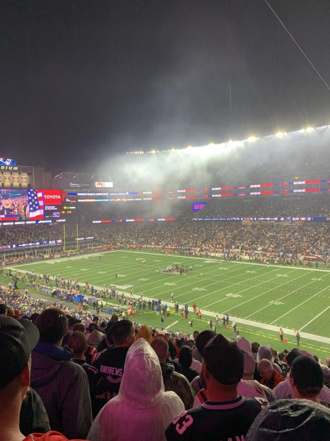 View of Gillette Stadium as the Pats hosted Brady and the Bucs on October 3