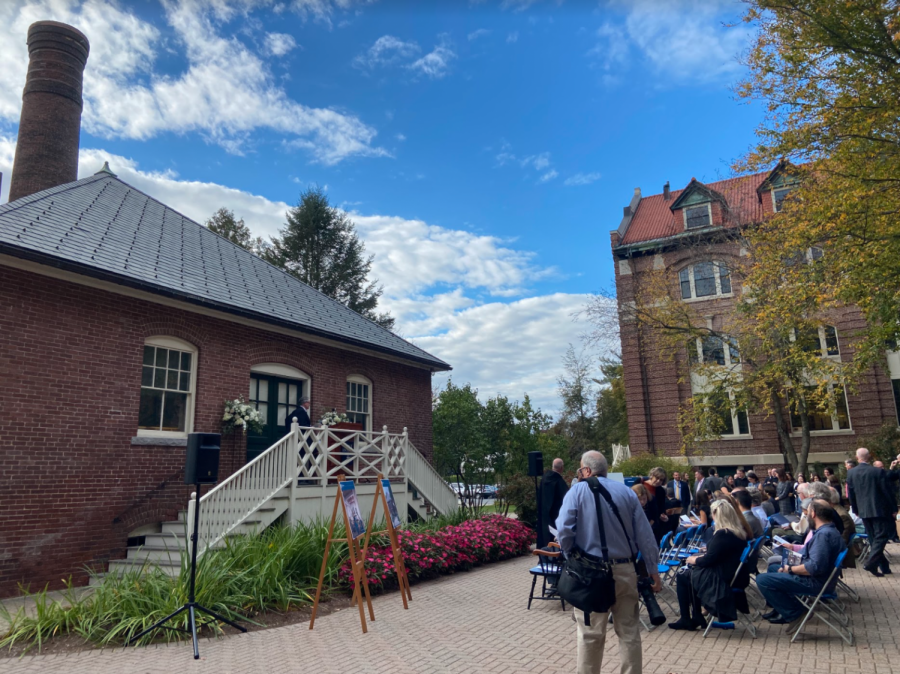 Saint Anselm community gathers for the Humanities Center Capital Campaign launch